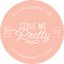 As featured on Style Me Pretty 2019