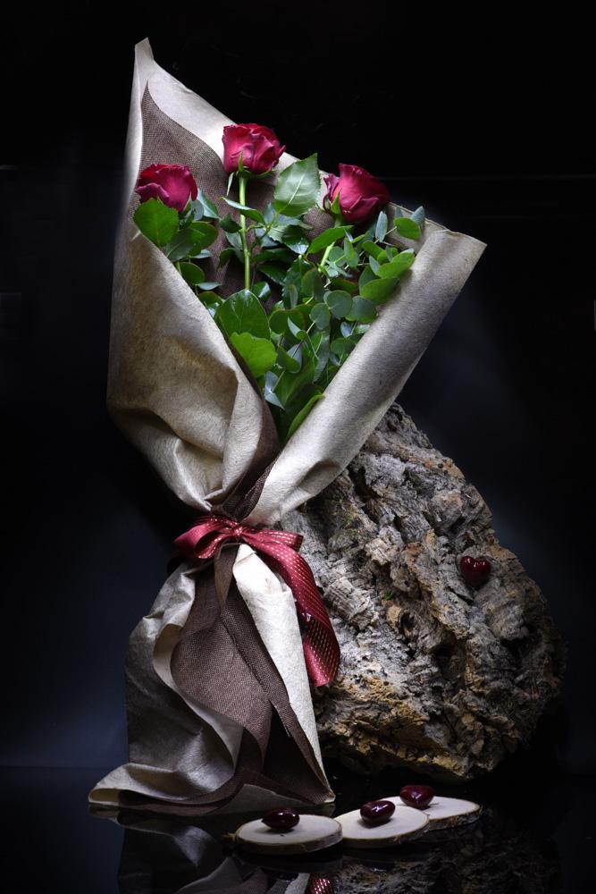 3 rose rosse san valentino