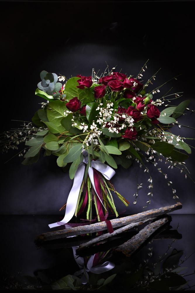 bouquet roselline rosse