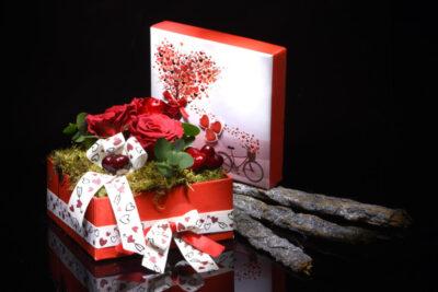 box 3 rose rosse stabilizzate san valentino